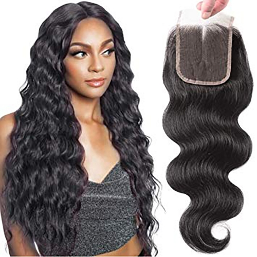 TD Hair Peruvian Body Wave 5x5 Lace Closure Free Part Human Hair Closure 10-20 inch Pre Plucked Hairline Remy Hair for Women