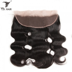 TD Hair 13*4 Remy Brazilian Human Hair Body Wave Swiss Lace Frontal Ear To Ear Pre Plucked