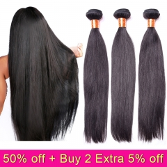 TD Hair 3PCS/Pack Remy Brazilian Straight Bundles Weave 100% Human Hair Bundle Natural Weaving Hair Extension 10-30 Inches
